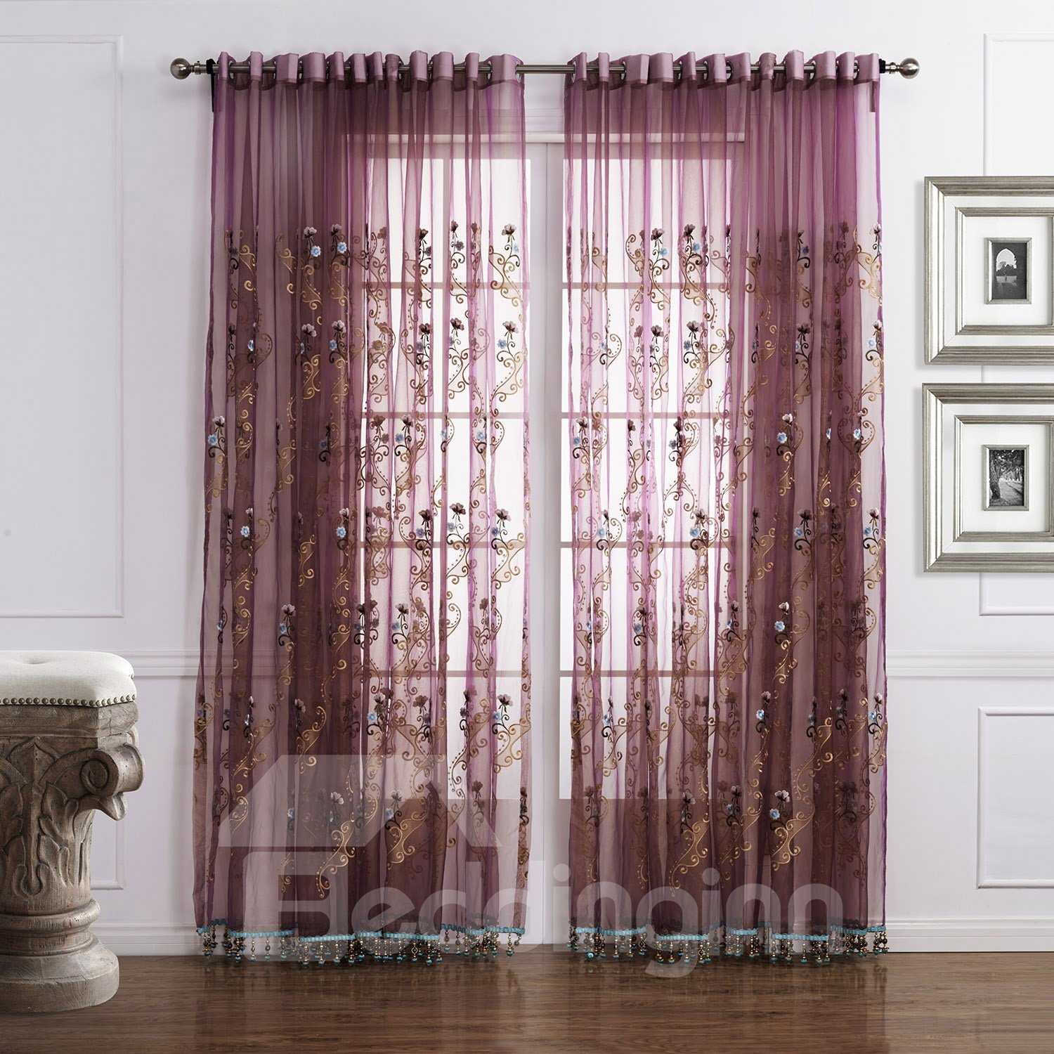 Fantastic Amazing Popular Brown Custom Sheer Curtain