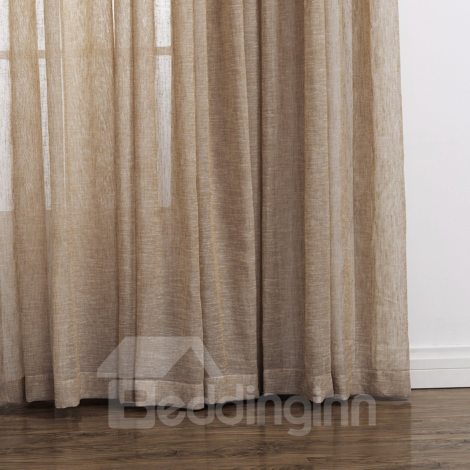 High Classic Polyester and Linen Custom Sheer Curtain