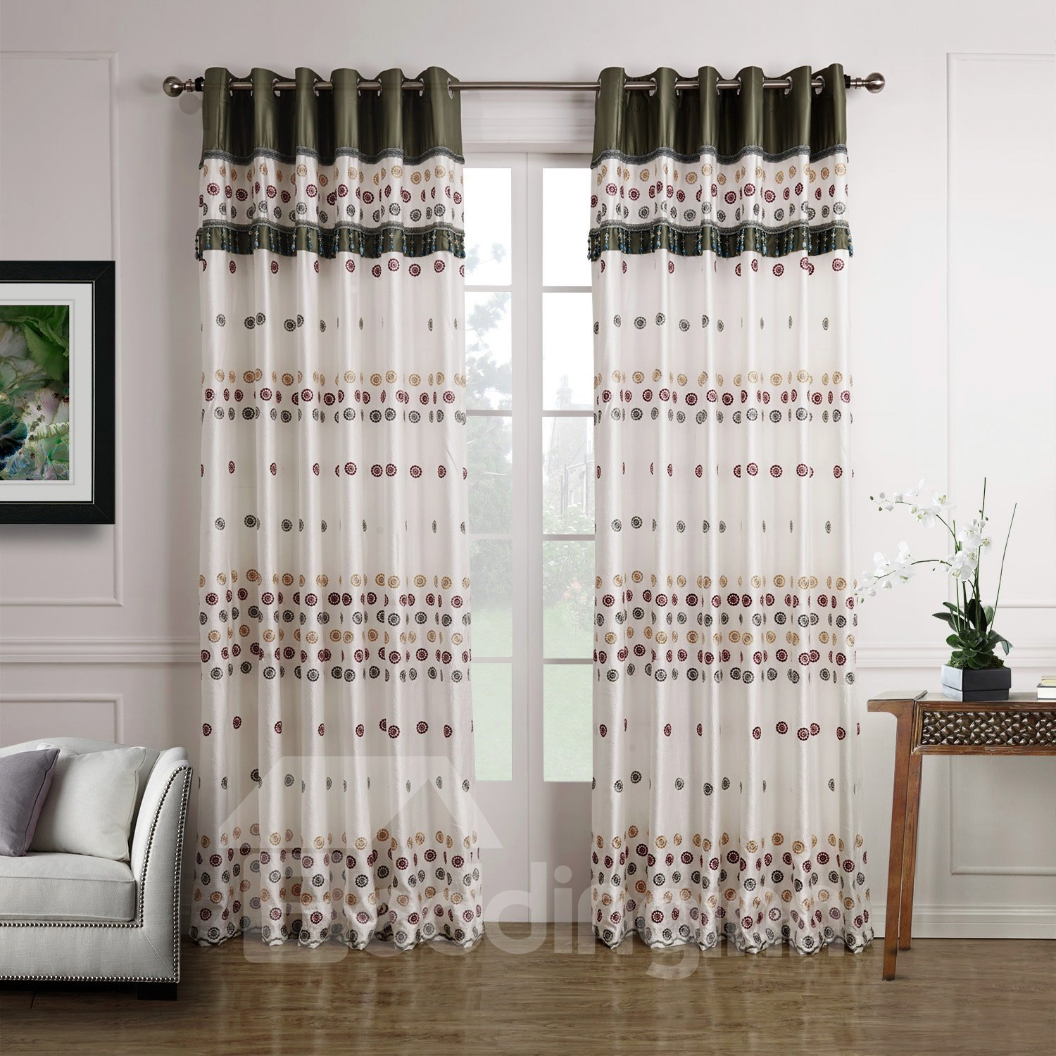 Modern Home Decoration Concise Design Custom Made Curtain