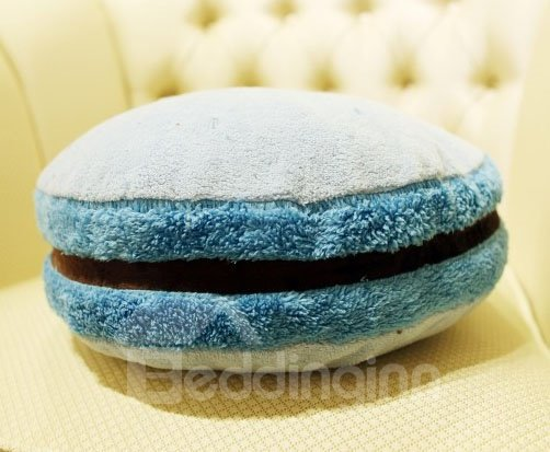 New Style Solid Color Hamburger Shape Pattern Throw Pillow