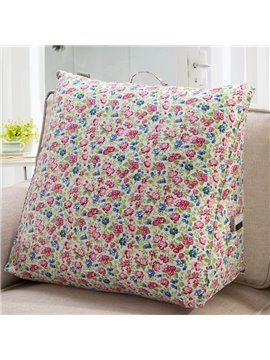 High Quality Red and Blue Little Flowers Pattern Throw Pillow
