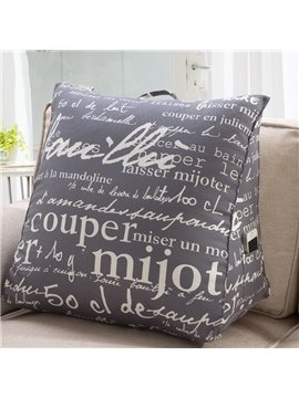Creative Full of Letters Pattern 3D Throw Pillow