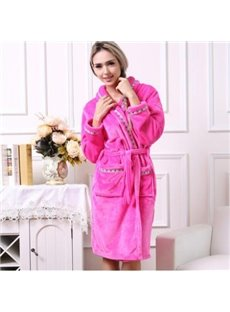 Cozy Lovely Elegant Concise Bathrobe for Women