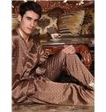 Gorgeous Khaki Checks Pattern Loungewear for Men
