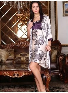 Wonderful Gorgeous Smooth  Jacquard Design Female Robe