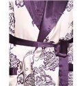 Gorgeous Smooth Purple Jacquard Design Male Robe