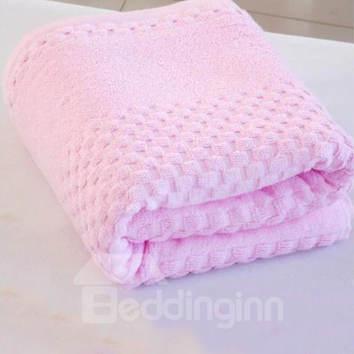 Super Lovely Soft Pink Checks Bath Towel