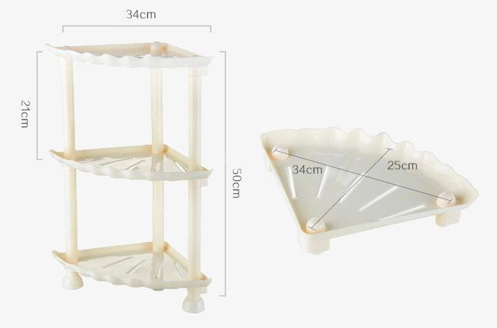 Adorable Shell Design Triple Layers Bathroom Shelf