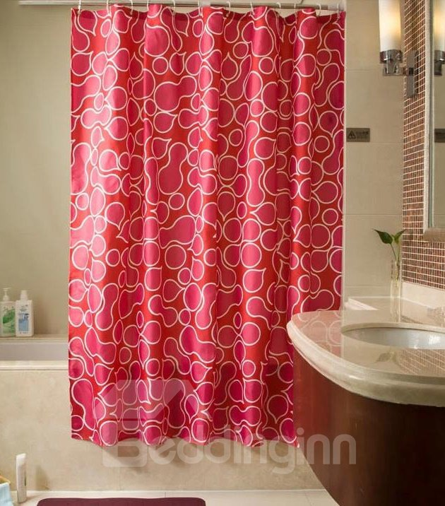 Fabulous Curve Red European Style Shower Curtain