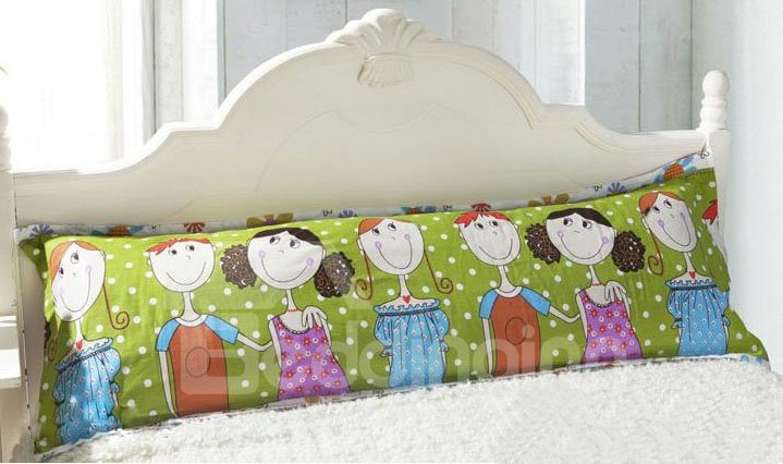 Joyous Good Friends Playing Pattern Bed Pillowcase for a Couple