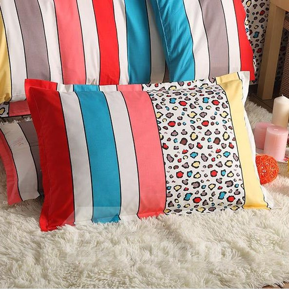 New Style Leopard Stripes Pattern Bed Pillowcase
