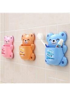 Adorable Smile Bear Design  Bathroom Toothbrush Holder