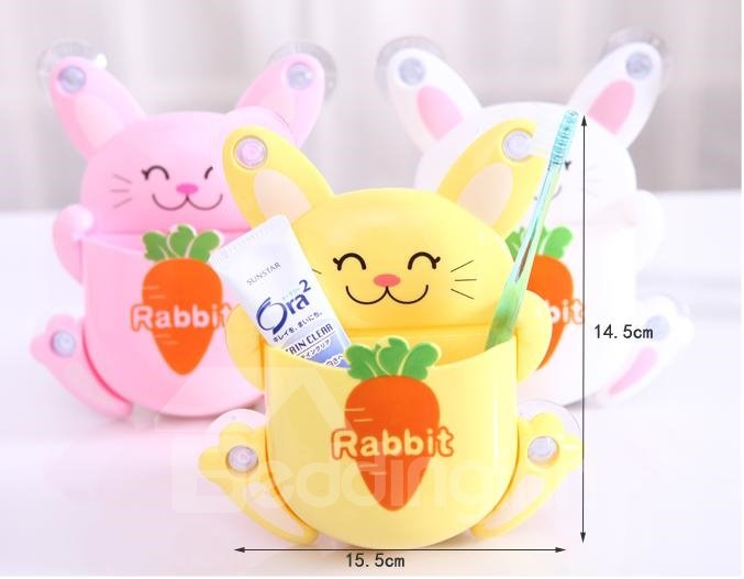 Adorable Smile Rabbit Design  Bathroom Toothbrush Holder