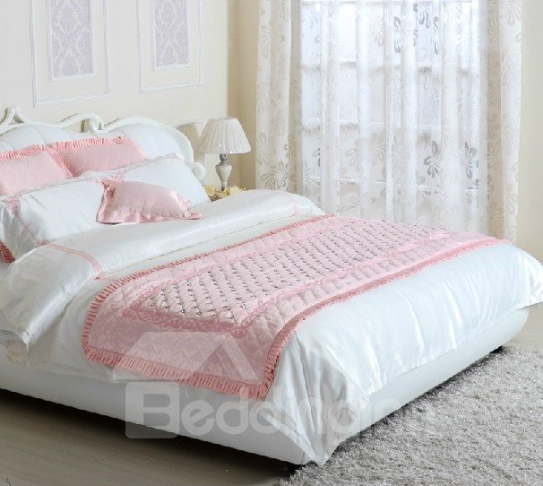 Luxury Diamond Trim 4-Piece Cotton Duvet Cover Sets