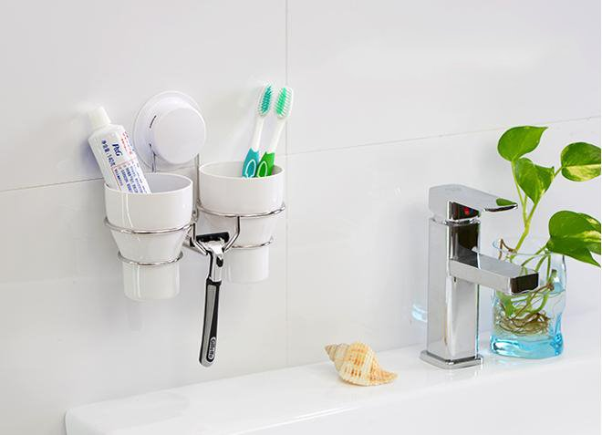 Concise Multifunctional Wall Mounted Design Toothbrush Holder