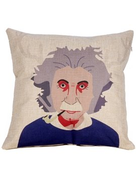 Creative Albert Einstein Painting Thicken Throw Pillow