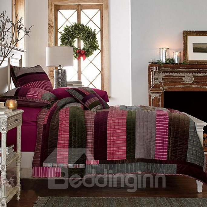 High Quality Dark Colors Matching Stripes Bed in a Bag