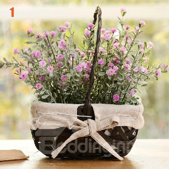 Pretty Wonderful Lovely Bamboo Basket of Roses Sets