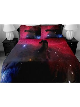 Shining Star and Vast Nebula Print 4-Piece Duvet Cover Sets