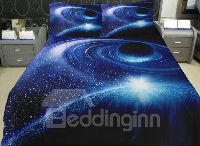 Magical Celestial Body Print 4-Piece Duvet Cover Sets