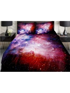 Amazing Colorful Shining Star Print 4-Piece Duvet Cover Sets