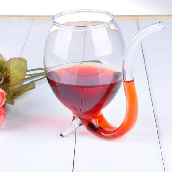 Fantastic High Quality Wine Glass Cup With Drinking Tube Straw beddinginn
