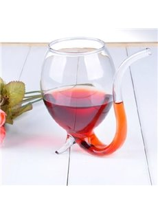 Fantastic High Quality Wine Glass Cup With Drinking Tube Straw