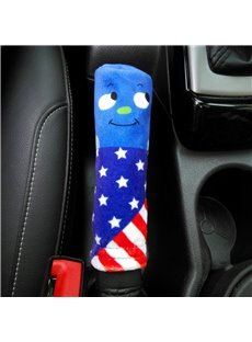 Super Cute America Flag Pattern Smile Expression Hand Brake Cover