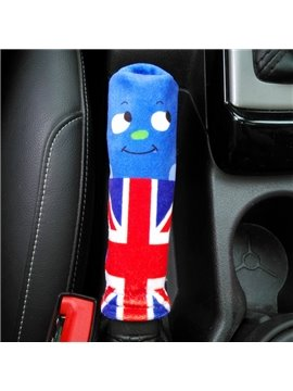 Creative Smile Expression England Flag Pattern Hand Brake Cover