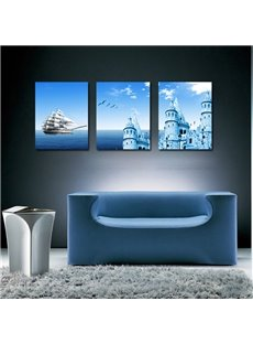 Fantastic 3-Pieces of Crystal Film Art Wall Print