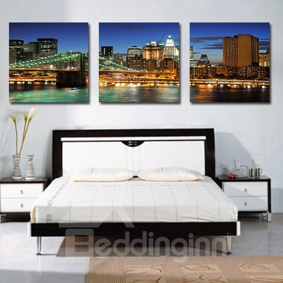 Beautiful Scenery 3-Pieces of Crystal Film Art Wall Print