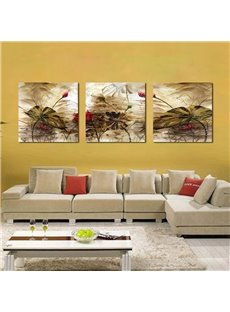 Pretty Lotus Flower 3-Pieces of Crystal Film Art Wall Print