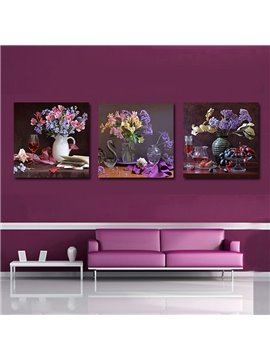 High Classic 3-Pieces of Crystal Film Art Wall Print