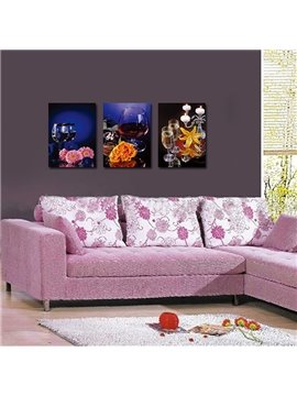 Amazing Popular 3-Pieces of Crystal Film Art Wall Print