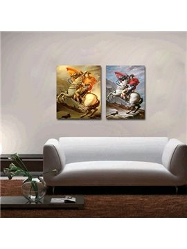 Classic People 2-Pieces of Crystal Film Art Wall Print