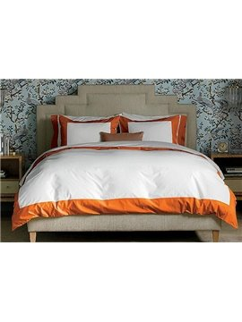 New Arrival 100% Cotton Satin Drill 4-Piece Duvet Cover Sets
