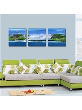 Natural Beautiful Scenery 3-Pieces of Crystal Film Art Wall Print
