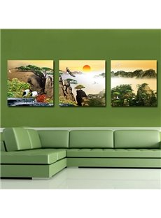 Fantastic Sunrise 3-Pieces of Crystal Film Art Wall Print