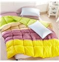 Super Soft Comfortable Bright Color Pattern Quilt