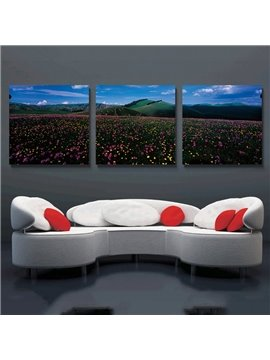 Flower Sea 3-Pieces of Crystal Film Art Wall Print
