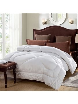 Super Warm Pure White Microfiber Filling Winter Quilt