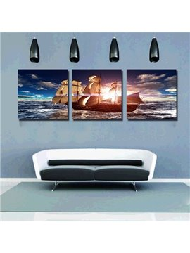 Best Selling Wonderful 3-Pieces of Crystal Film Art Wall Print