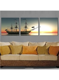 Beautiful Glamourous 3-Pieces of Crystal Film Art Wall Print