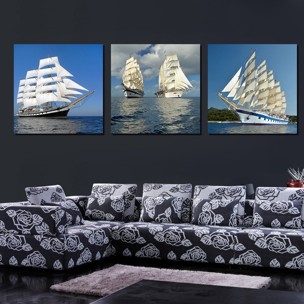 Best Selling New Stype 3-Pieces of Crystal Film Art Wall Print