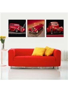 Pretty Cars 3-Pieces of Crystal Film Art Wall Print
