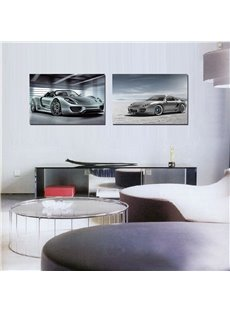 Sports Car 2-Pieces of Crystal Film Art Wall Print