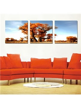 Fantastic Autumn Tree 3-Pieces of Crystal Film Art Wall Print