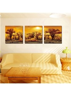 Dusk 3-Pieces of Crystal Film Art Wall Print