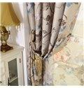 Elegant Floral Pattern Printing Linen Custom Made Curtain