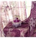 New Home Fashion Gorgeous Floral Pattern Grommet Top Curtain